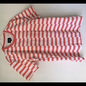 Huf Brand Striped Shirt Men's Pink White